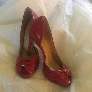 Red Patent Heels